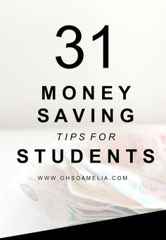 Started college or uni this year? Take a look at this post for 31 Money Saving Tips For Students to help you save money instead of just making ends meet!