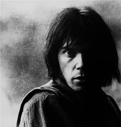 Neil Young by Graham Nash, 1969.