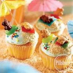 Day-at-the-Beach #Cupcakes from Pillsbury® Baking