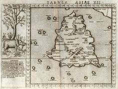 Girolamo Ruscelli. Ptolemaic map of Taprobana, 1562 ... could Taprobana be Sri Lanka? More at Wikipedia: http://en.wikipedia.org/wiki/Taprobana