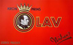 Kronprins Olav Konfekt. Den er utgått fra Nidars sortiment.  Dette er samlarobjekt. Ligger på FINN.NO for 150 kr.