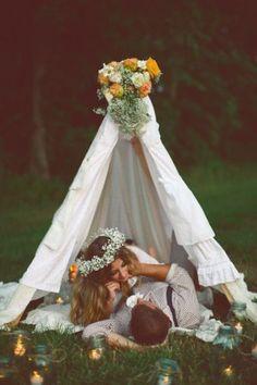 tenda indiana per matrimonio bohemien