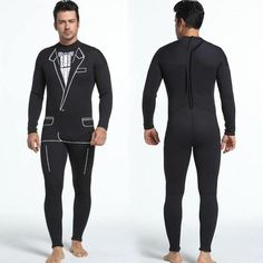 3mm Men's One Piece Wetsuit Suit Pattern Warm Diving Surfing Clothing