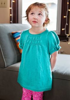 Child's Tunic top..# free #knitting pattern link here