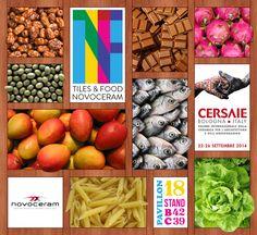 """Nous sommes heureux de vous dévoiler le concept de notre stand au #cersaie 2014 de Bologne : """"Tiles & Food Novoceram"""" ! Le rendez-vous est pris du 22 au 26 septembre, pour vivre une expérience savoureuse !  En savoir plus : http://www.novoceram.fr/blog/evenements-novoceram/novoceram-stand-cersaie-2014 #TILESANDFOOD"""