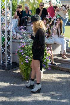 Stockholm Fashion Week Street Style Blonde