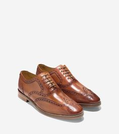 Cole-Haan-Cambridge-Wing-Oxford-Mens-Leather-Round-Toe-Shoes-C12915-British-Tan