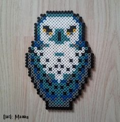 La chouette Hedwige de Harry Potter en perles à repasser