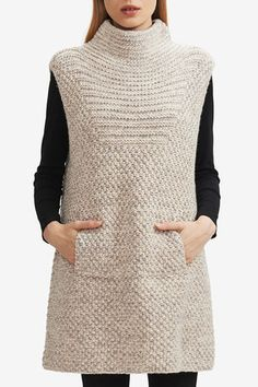 Shop the latest hand knit HANIA New York collections of luxury knitwear and accessories at our online boutique. Baby Knitting Patterns, Hand Knitting, Knit Vest Pattern, Long Sweaters For Women, Wool Vest, Drops Design, Knitting For Beginners, Knit Dress, Knitwear