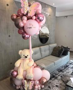 Wedding Balloon Decorations, Diy Birthday Decorations, Baby Shower Decorations, Valentines Balloons, Birthday Balloons, Balloons Photography, Teddy Bear Baby Shower, Balloon Gift, Baby Shower Princess