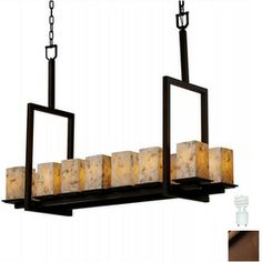 Cascadia Lighting 14-Light Alabaster Rocks Montana Dark Bronze Chandelier