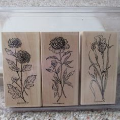Stampin Up Still Life Stems Stamp Set Long Stemmed by Kimberleez, $14.00