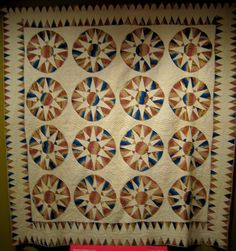 Mariner's Compass Quilt from the 1820s by gmeador, via Flickr