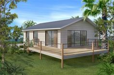 _359405_orig_500 Small House Floor Plans, Small Tiny House, Small House Design, Small Home Kits, Kit Homes Australia, House Plans Australia, 2 Bedroom House Plans, Duplex, Planer
