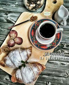 Breakfast set with croissant
