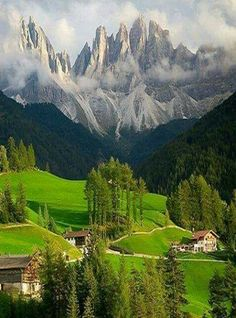 Funes valley in,Italy Landscape Photography, Nature Photography, Travel Photography, Natural Scenery, Get Outdoors, Mountain Landscape, Science And Nature, Nature Pictures, Belle Photo