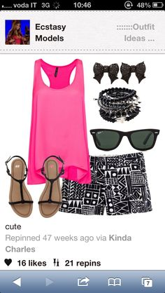 Summer outfit with shorts