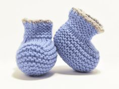#Blue #newborn #booties / #Preemie booties by OldCozyHome