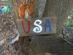 USA RUSTIC SIGN by AngelPaws6 on Etsy