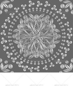 vector seamless floral lace white pattern - GraphicRiver Item for Sale