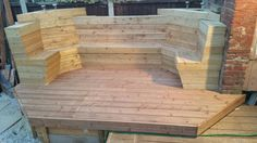 Deck Seating and Flower Bed