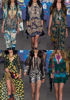 Print and pattern inspiration for Spring/Summer 2015 continues to appear on the New Yorkcatwalks this week. The Patternbank team have selected more of the