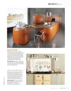 Livingetc (Indonesia) - May 2015. Our 40 tile panel depicting a splashback of decorative clucking chickens was included in this round up of kitchen decorating ideas.