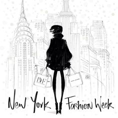This is NEW YORK FASHION WEEK Feb. 6-13! Click through for schedule. REMEMBER to check your pins and remove any duplicates of someone else's exact pin from the same day. New York Fashion Week is illustrated by Megan Hess