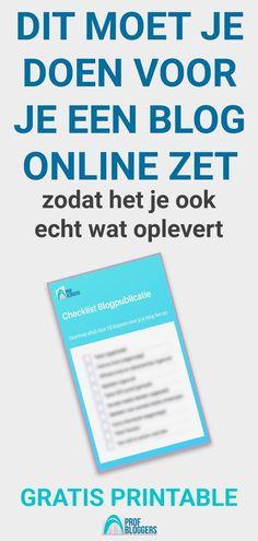 Op zoek naar Nederlandse blog tips? In dit artikel staan 10 belangrijke punten uitgebreid beschreven, die je blogpost een stuk beter maken. Met checklist blog post, gratis printable.