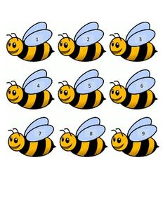 Bee Hive Counting by Heidi Nelson Kindergarten Math, Preschool, Paper Clock, Buzz Bee, Cute Coloring Pages, Math Projects, Bee Crafts, Math Numbers, Bee Theme