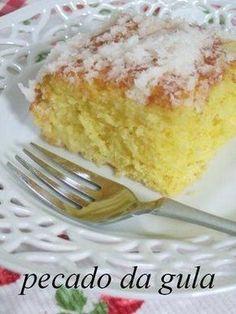 PECADO DA GULA: Bolo de milho e coco prático, gostoso e molhadinho!
