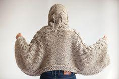 20% WINTER SALE Tweed Beige Angel Sweater Capalet with by afra