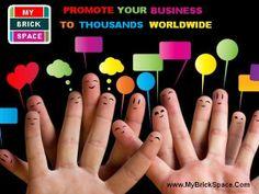 #Promote your #business to thousands worldwide. www.MyBrickSpace.com