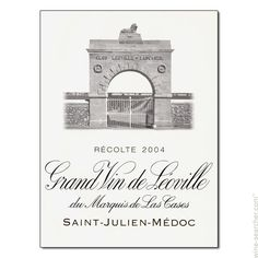 Chateau Leoville-Las Cases 'Grand Vin de Leoville du Marquis de Las Cases', Saint-Julien, France