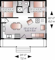 20X24 floor plan (2 car garage)