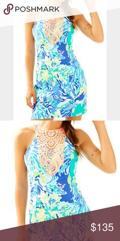 NWT Lilly Pulitzer pearl shift dress size 00 NWT Lilly Pulitzer pearl shift dress in color Brilliant blue wade and sea size 00 Lilly Pulitzer Dresses Midi