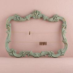 Open Ornate Vintage Inspired Frame (Aged Green or White)