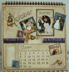 """Artistic Hen: Graphic 45 Easel Calendar Made with """"Place in Time"""""""