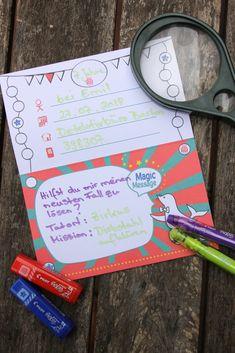 Detektivparty: Deko, Spiele, Rezepte und mehr - Lavendelblog Geheimagenten Party, Messages, Cover, Prize Draw, Game Ideas, Invitation Cards, Invitations, Games, Deco