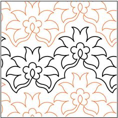 Pineapple Flower quilting pantograph pattern by Lorien Quilting