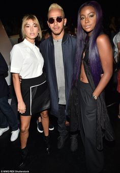 Lewis Hamilton is spotted with leggy model Hailey Baldwin #dailymail