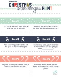Sometimes Christmas thing can feel overwhelming. Before the stress of the season makes you a mess, have some fun with this iMOM Christmas Scavenger Hunt. Christmas Activities For Families, Christmas Games, Christmas Countdown, Christmas Holidays, Christmas Birthday, Christmas Printables, Happy Holidays, Christmas Riddles, Merry Christmas