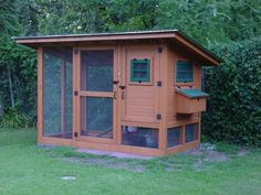 The best chicken coop ever.  So many clever and well thought out design features to make caring for chooks so easy.