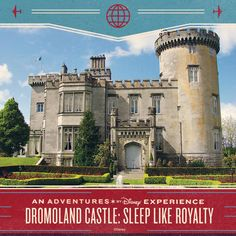 "On an Adventures by Disney trip to Ireland, you'll head off to the prestigious Dromoland Castle for a three night stay. Along the way, kiss the Blarney Stone for the ""gift of gab"" – the ability to speak with a flattering tongue."