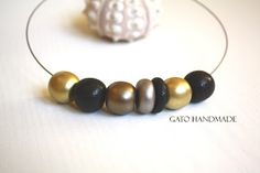 GATO Handmade: The new GOLDEN Collection by GATO HANDMADE-Unique ... Polymer Clay Necklace, Beaded Bracelets, Unique, Handmade, Collection, Jewelry, Gatos, Hand Made, Jewlery