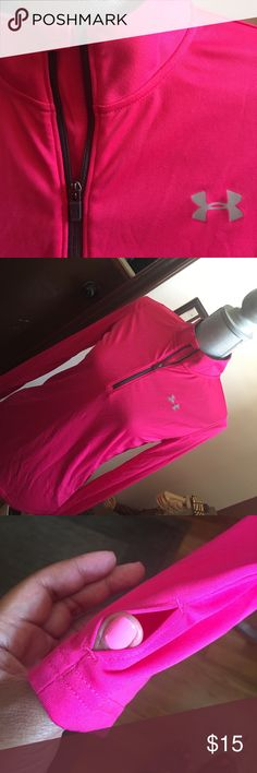 ⛹🏼‍♀️UNDER ARMOUR⛹🏼‍♀️ Youth long leave tee NWOT pullover long sleeve running tee, heat gear, 1/4 zip to neck, thumb hole to keep the sleeve on place. Reasonable offers welcomed. Please ask any and all questions. Under Armour Shirts & Tops Tees - Long Sleeve