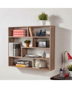 Danya B. Large Rectangular Shelf Unit - Weathered Oak (Brown) (Danya B. Creative Bookshelves, Floating Bookshelves, Bookshelf Design, Bookshelf Wall, Wall Shelves Design, Cubby Shelves, Glass Shelves, Open Shelves, Display Shelves