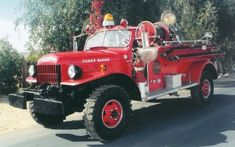This restored 1952 Dodge Power wagon has a Van Pelt firefighting body.