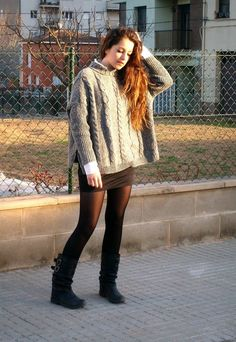 Oversized sweater! I love the sweater!