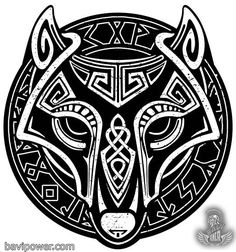In Norse mythology, the most notorious villain must be Fenrir the Wolf. Fenrir was a monstrous wolf who was prophecised to swallow Odin in the event of Ragnarok. Fenrir was a pure giant in the myth, being the son of a giant couple Loki and Angrboda. Norse Mythology Tattoo, Norse Tattoo, Celtic Tattoos, Viking Tattoos, Celtic Wolf Tattoo, Tribal Wolf Tattoo, Wolf Tattoo Design, Wolf Tattoos, Viking Symbols